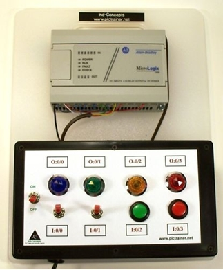 Picture of PLC Hands-on Trainer Allen Bradley MicroLogix