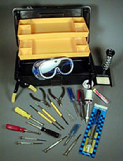 Picture of Custom Tool Kit with Emphasis on Soldering Equipme
