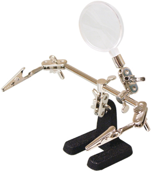 Picture of Dual Helping Hands with Magnifying Glass