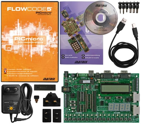 Picture of PICmicro MCU Development Board and Flowcode