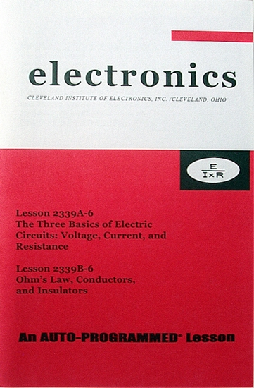Picture of The Three Basics of Electric Circuits: Voltage, Current, and Resistance. (Lesson 1) Ohm's Law, Conductors and Insulators (Lesson 2)